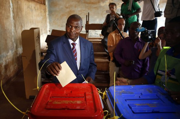 Centrafrique: le président Touadéra officiellement investi
