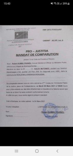 mutondo 248x524 - RDC : Kalev attendu ce mardi 9 mars au Parquet général près de la Cour d'appel