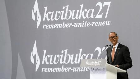 Le president Kagame - Pour Paul Kagame, le rapport Duclert est «un pas de plus vers une compréhension commune»