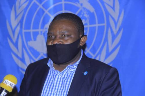 Le maire de Butembo, Sylvain Kanyamanda, au studio de Radio Okapi. Mars 2021.</p> <p>