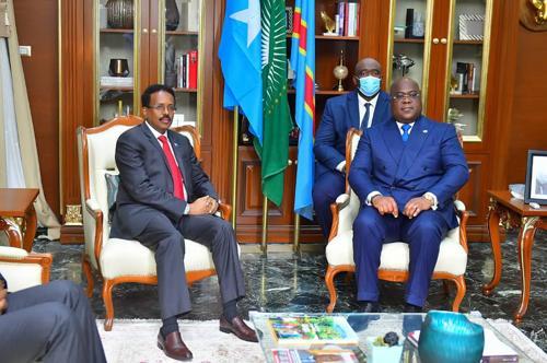 RDC :   la crise politique en Somalie au cœur de l'entretient entre Félix Tshisekedi et Mohamed Abdullahi