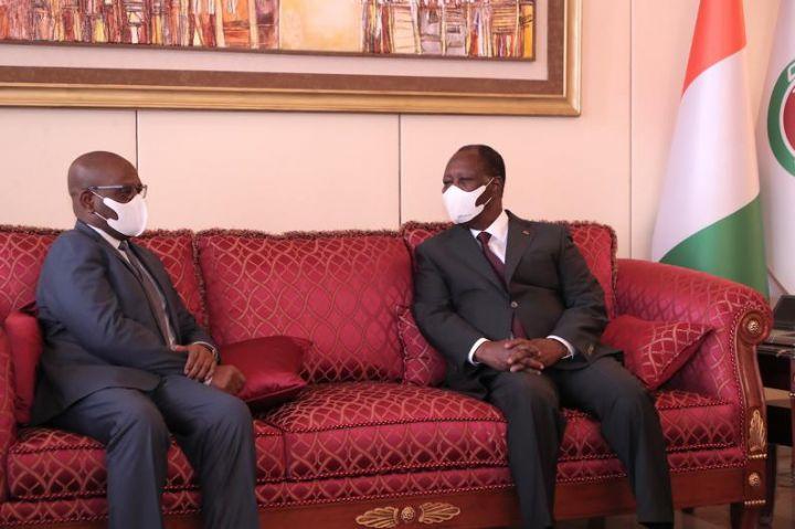 Audiences presidentielles Alassane Ouattara recoit les presidents de la - Audiences présidentielles : Alassane Ouattara reçoit les présidents de la FIFA et de la CAF ainsi que celui de la commission de l'UEMOA