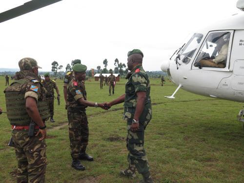 Uvira : des hauts officiers militaires en mission de pacification dans les hauts plateaux de Fizi et d'Uvira.