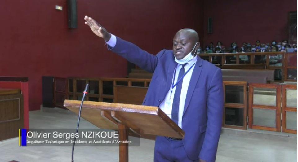 Tribunal de Libreville - Serge Olivier Nzikoue - Cérémonie de prestation de serment.