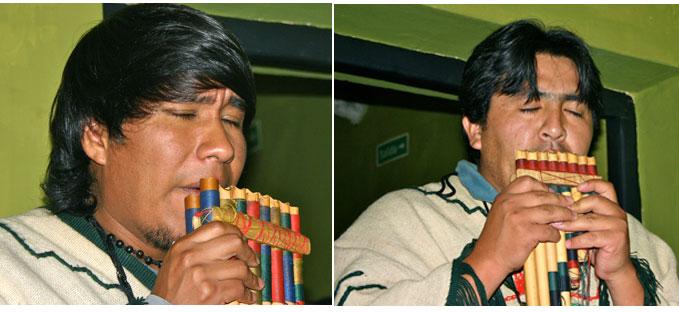 La musique andine accompagne les spécialités régionales au restaurant !