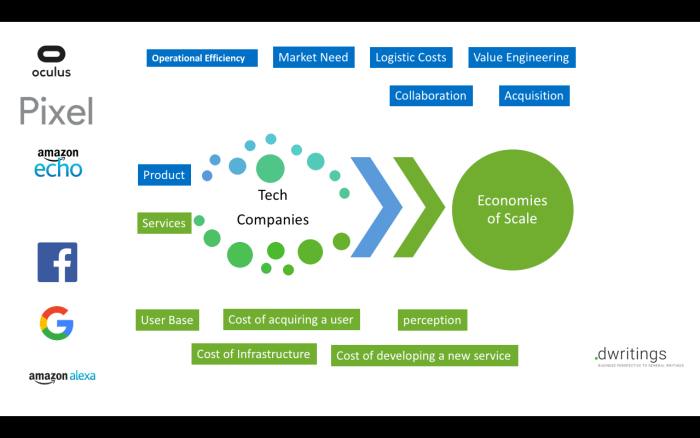 Economy of scale for technology companies