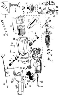 Wiring Diagram Dewalt Saw Dewalt Repair Diagrams Wiring