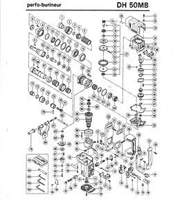 Hitachi Dh50mb-HOUSING ASSY DH50MB Hitachi Replacement