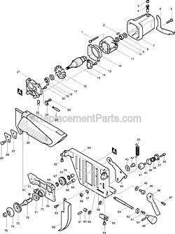 Makita 315431-3 Gear Housing . Makita 157243-6 Motor