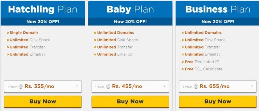 HostGator_India_Shared_Web_hosting_plans