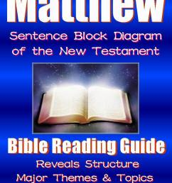 matthew bible reading guide with sentence block diagram structure theme [ 1500 x 2000 Pixel ]