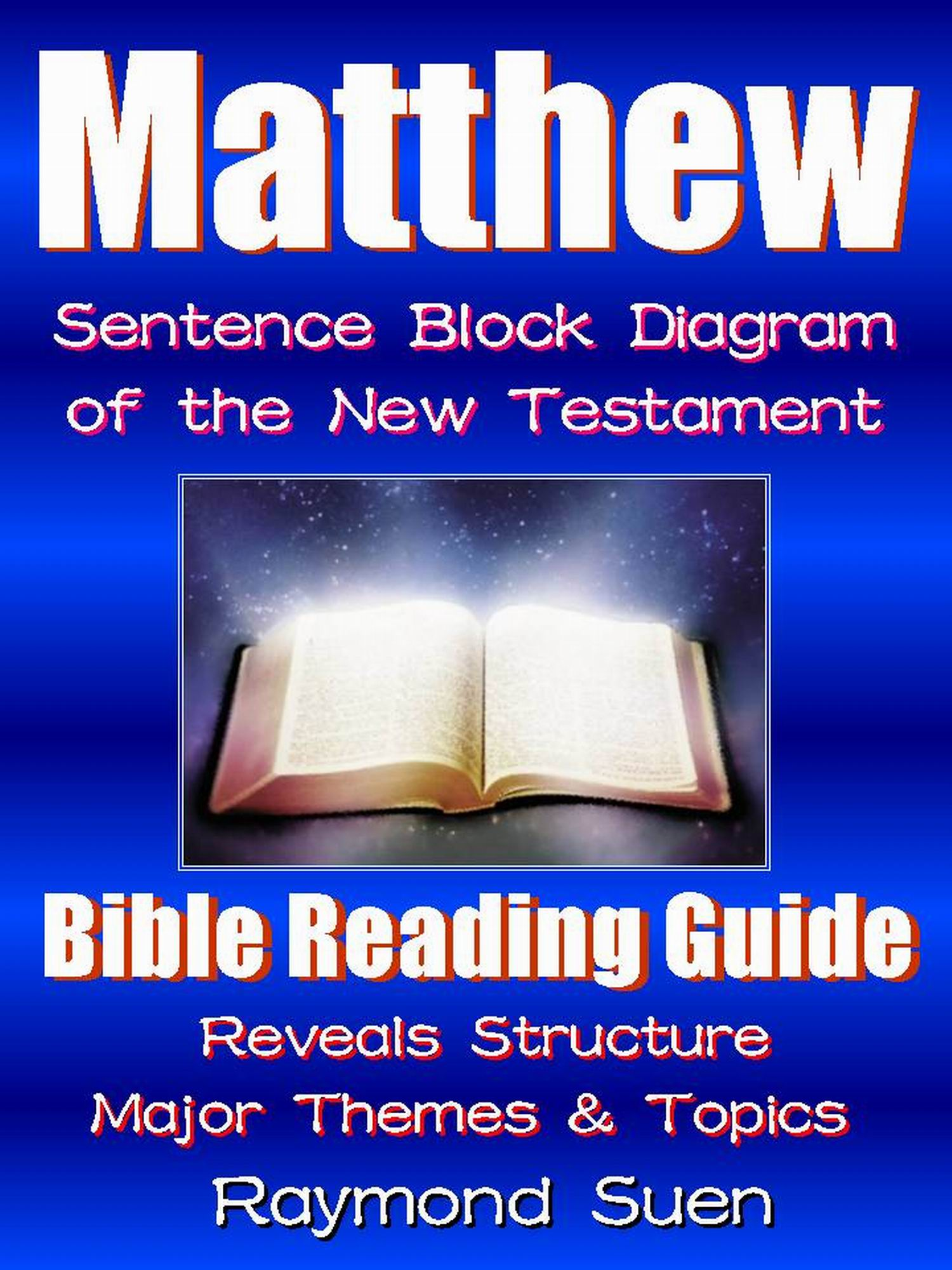 hight resolution of matthew bible reading guide with sentence block diagram structure theme