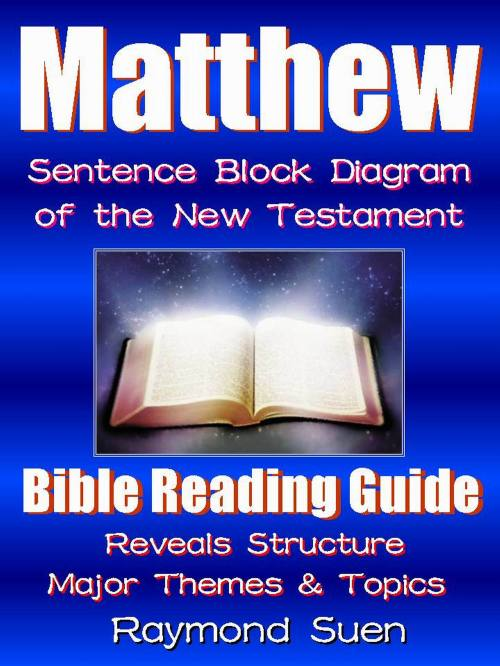 small resolution of matthew bible reading guide with sentence block diagram structure theme