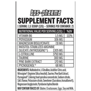 """BPS Pharma """"Not 4 pussy"""" Ultimate Pump Booster 250g"""
