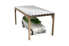 Carports aus Holz für einzelne und mehrere PKWs sowie Wohnwagen