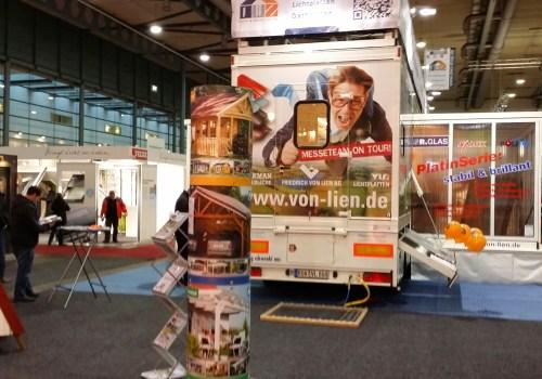 HanseBau Messe Bremen 2014 Messeauflieger Plakatsäule