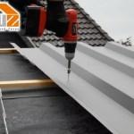 Verschraubung der Dachbleche