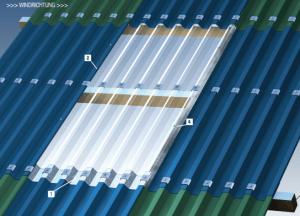 Montage Lichtplatten und Profilbleche