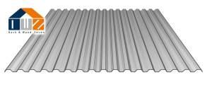 PC Lichtplatte Silber-Metallic