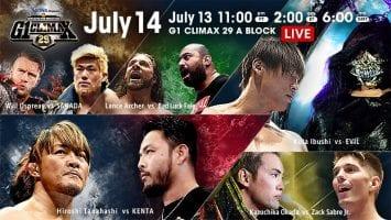 NJPW G1 Climax 29 14-07-2019 Day 3