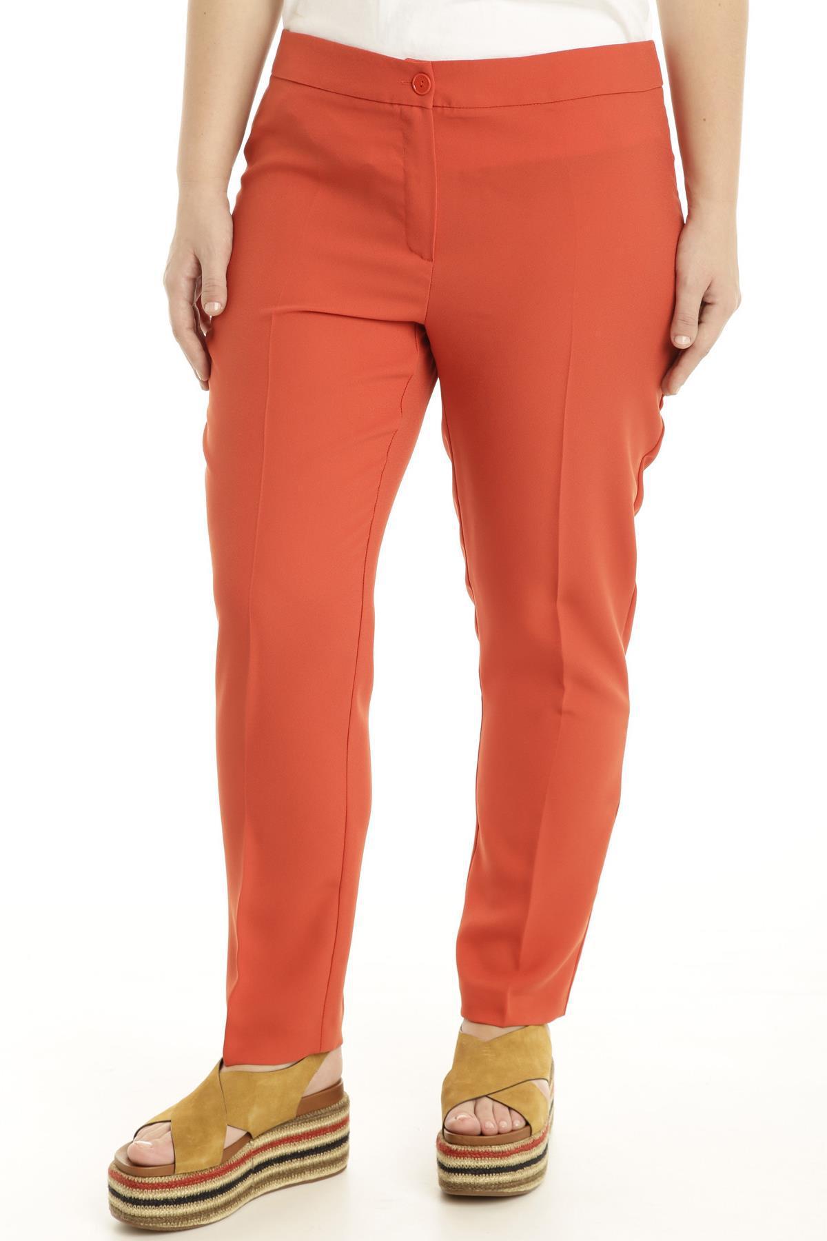Pantaloni in tessuto leggero arancione scuro  Diffusione