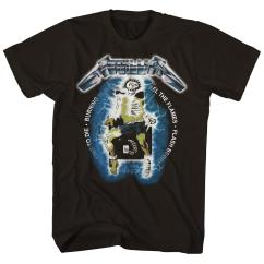 Vintage Electric Chair Desk And Animal Jam Ride The Lightning Metallica T Shirt