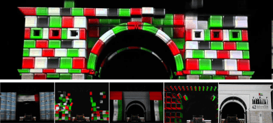 Zabeel Palace gate video mapping