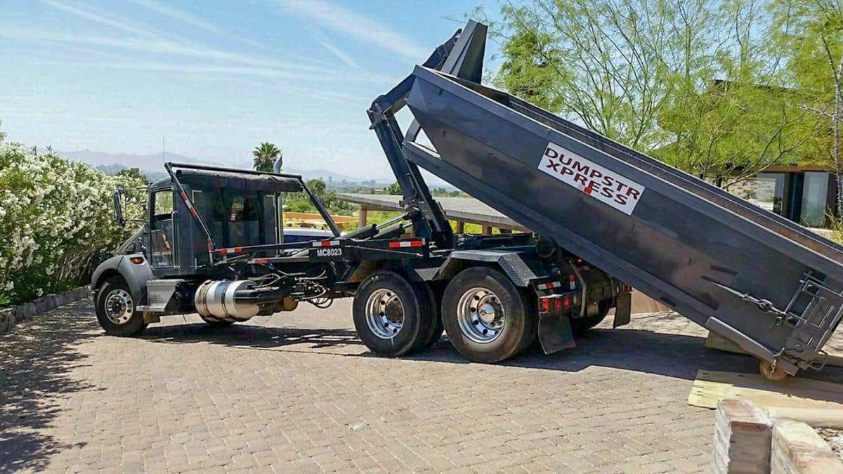 10 yard Goodyear dumpster