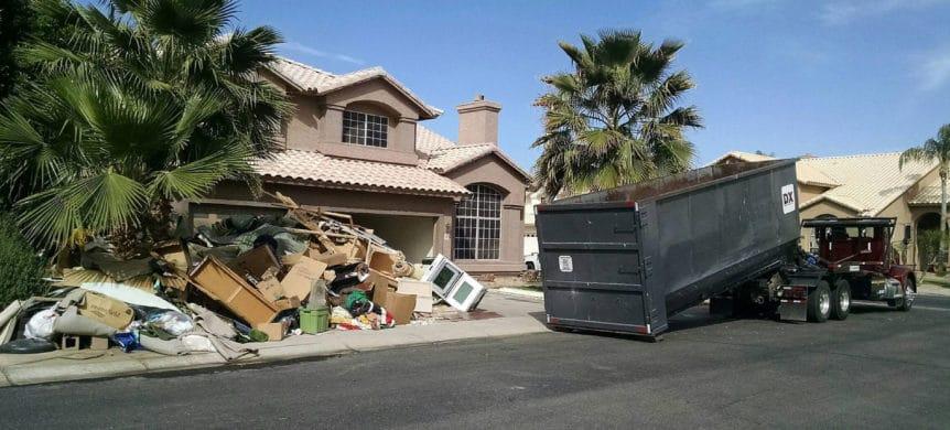 Hoarders Spooky or Scary Dumpster rental Phoenix