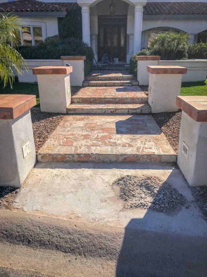 hardscape walk way with stone pavement phoenix arizona