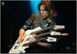 Steve Vai playing guitar