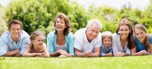 3 generations Happy family