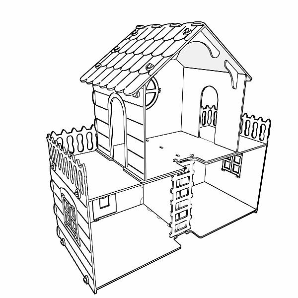 Big Barbie dollhouse cut plans for CNC users.Wooden