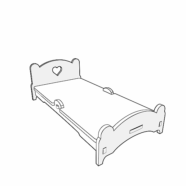 Bed project for CNC laser and router cutting (1:12 scale