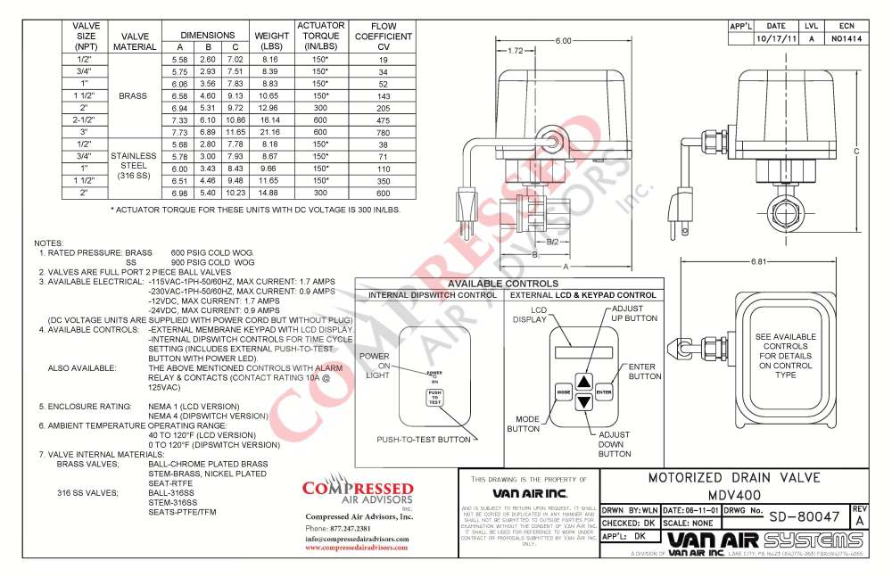 medium resolution of click here for van air mdv400 drain valve dimensions instruction manual