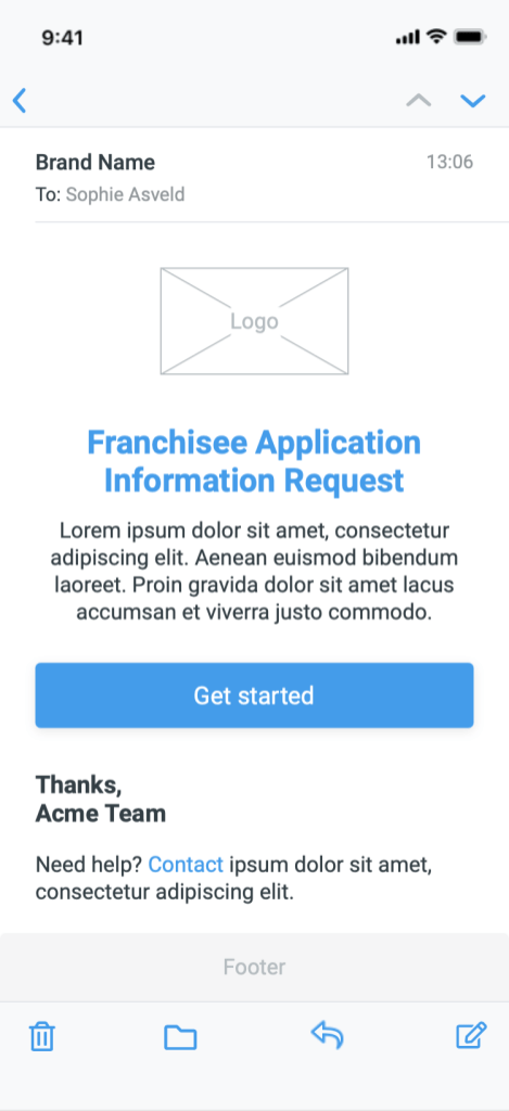 Branded Email Template