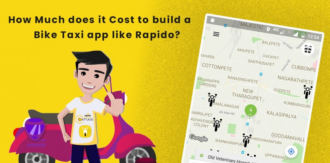 How Much Does it cost to develop a Bike Taxi Booking app like Rapido?