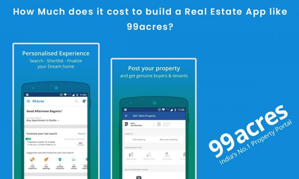 How Much does it cost to build/develop an app, website like 99acres