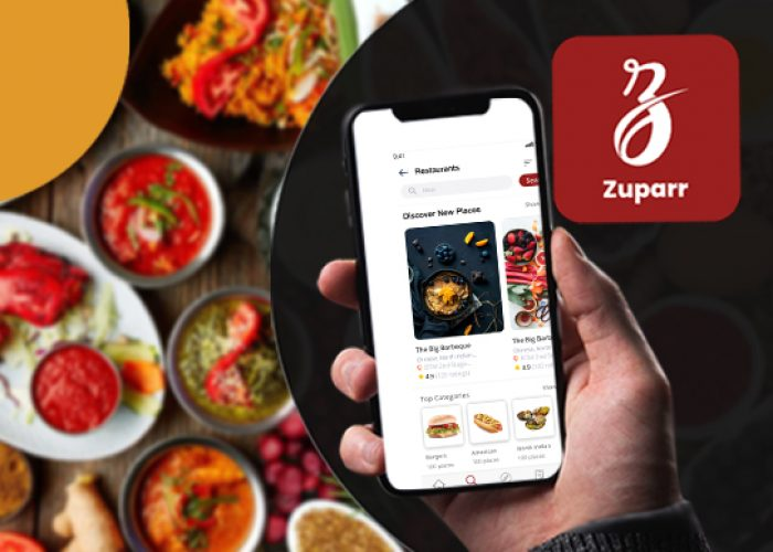 Zupar delivery app developed by DxMinds