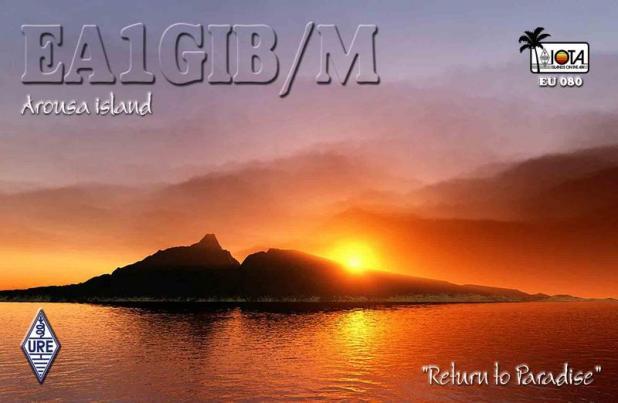 Arousa Island EG1PAA QSL