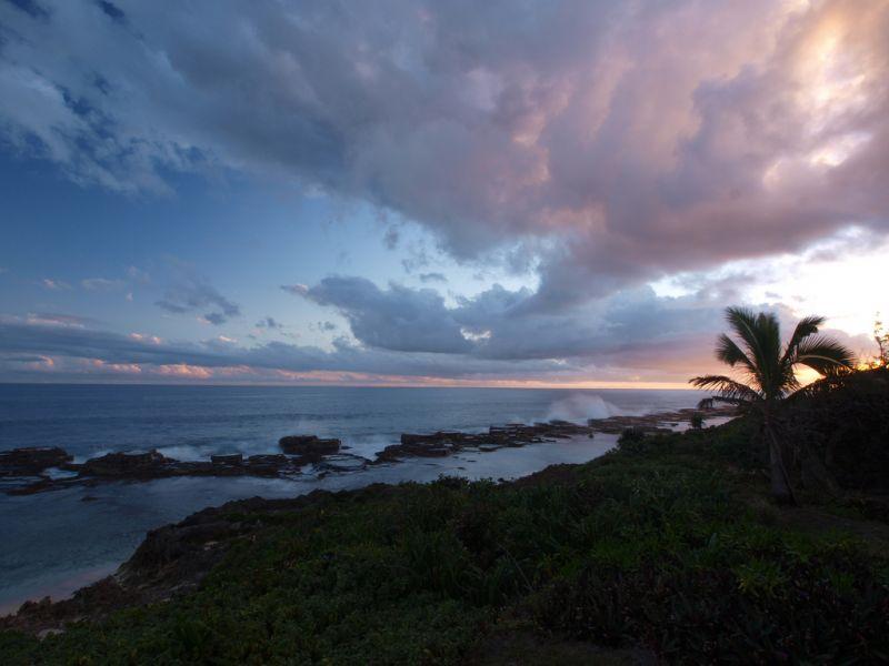 Tongatapu Island A35T Touritst attractions spot Sunset at Keleti Resort.
