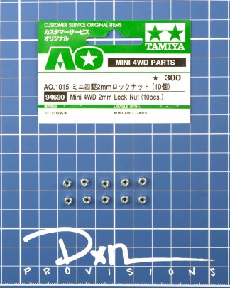 Mini 4WD 2mm Lock Nut (10pcs.) #94690