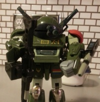 Chirico Cuvie's Red Shoulder Scopedog ATM-09-RSC - 1984 Takara 1/24 scale from anime Armored Trooper VOTOMS( 装甲騎兵ボトムズ) 1983-1984