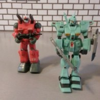 Gundam MSIA Guncannon RX-77 2000 and Jegan RGM-89 2003