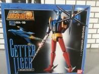 Getter Liger GX-19 Bandai Soul of Chogokin 2003 Getter Robo G front of box from anime Getta Robo G (Japanese), Jet Robot (Italian), Robo Formers, Starvengers, ゲッターロボG (Japanese), 게타로보 (Korean)