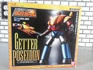 Getter Poseidon GX-20 Bandai Soul of Chogokin 2003 Getter Robo G front of box from anime Getta Robo G (Japanese), Jet Robot (Italian), Robo Formers, Starvengers, ゲッターロボG (Japanese), 게타로보 (Korean)