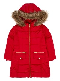 Girls Red Coat - Coat Racks