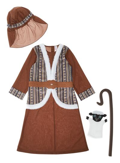 Fancy Dress Kids Brown Shepherd Costume 3 10 Years Tu