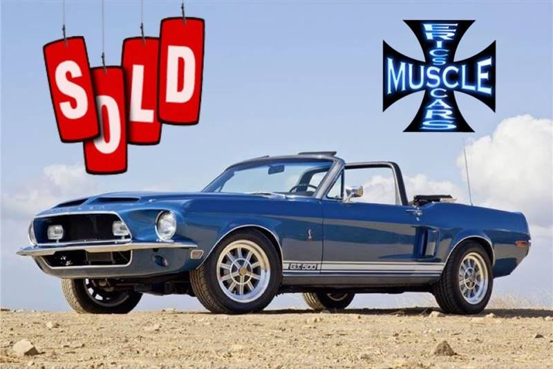 1968 Ford Shelby Gt500 Sold Sold Sold
