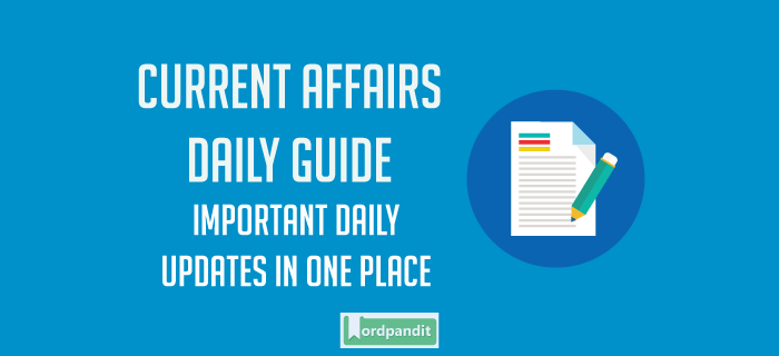 Daily Current Affairs 2 September 2017: Daily Dose Of